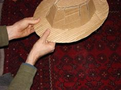 How to Make a Fedora (Indiana Jones'): 8 Steps (with Pictures) Mickey Mouse Parties, Mickey Mouse Clubhouse, Mickey Mouse Birthday, Toy Story Birthday, Toy Story Party, Cowboy Birthday Party, Pirate Party, Film Blade Runner, Crazy Hats