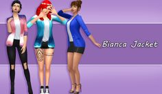 The Sims 4 |  Bianca Jacket by #pixielated bg compatible CAS Clothing top separated for female adult party SP06 Romantic Garden Stuff