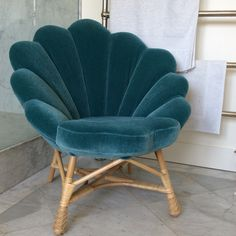 Soane Britain's Venus Chair made in rattan and upholstered in mohair velvet…