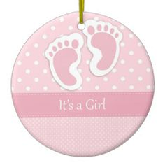 It's A Girl Ornament #Baby #Infant #Ornament