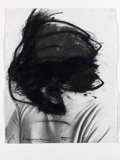 """Arnulf Rainer - Bartwuchs, 1970 """"La Magnifica Ossessione"""" www.mart.tn.it/magnificaossessione"""