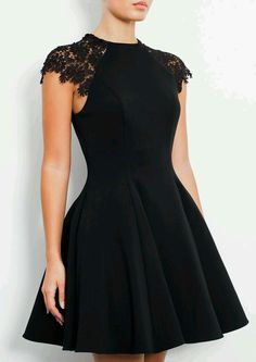 Lovely skater dress with lace on top,everything works