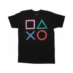 PlayStation Vintage Icons T-Shirt ($20) ❤ liked on Polyvore featuring tops, t-shirts, vintage tees, vintage tops and vintage t shirts