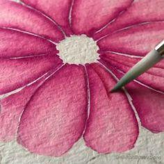 Watercolor Paintings For Beginners, Watercolor Art Lessons, Watercolour Paintings, Watercolor Techniques, Watercolors, Flowers To Paint, Water Paints, Watercolor Flowers Tutorial, Paint Techniques