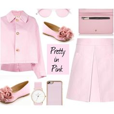 How To Wear Pretty in Pink - Top Set 1 17 17 Outfit Idea 2017 - Fashion Trends Ready To Wear For Plus Size, Curvy Women Over 20, 30, 40, 50