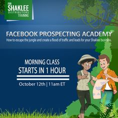 #Shaklee   Facebook Prospecting Academy https://www.yourfreedomproject.com/fbpa SESSION 1 CLASS STARTS IN 1 HOUR! Are you ready to learn why Facebook for network marketing? Tip: Please check the confirmation email you have received upon enrolling. The email contains a unique join link you will be using to get in to the webinar. Comment on this post if you need further assistance. See you later!