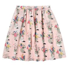 Flower Pots Encased Elastic Cotton Skirt | Skirts | CathKidston
