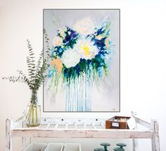 boho style floral painting by Megan Carty
