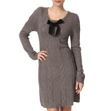 Anonymous by Ross & Bute Mink Ribbon Cable Wool Cashmere Blend Dress