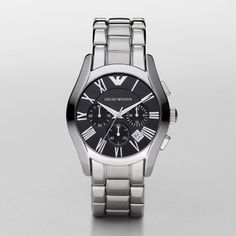 Sale  Classic Watch Arrive in style with this oversized watch from Emporio Armani. The stainless steel case features…