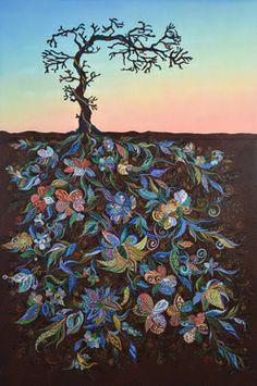 """Saatchi Art Artist Erika Pochybova-Johnson; Painting, """"Sunset """" #art"""