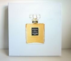 Chanel Coco perfume - Original acrylic on canvas painting
