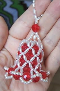 my grandma had and i think made these Beaded Bell Ornament probably will never do this but i makes me happy to look at