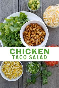 Looking For More Ways To Use Up Leftover Roast Chicken? Chicken Taco Salad Served Family Style Is A Delicious Means To The Roast Chicken Ends. Via Bakersbeans Roast Chicken Recipes, Roasted Chicken, Turkey Recipes, Mexican Food Recipes, Ethnic Recipes, Leftover Roast Chicken, Chicken Leftovers, Best Salad Recipes, Chicken Tacos