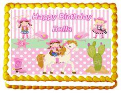 Little Cowgirl Cake Topper  Custom Design by topAcake on Etsy, $10.00