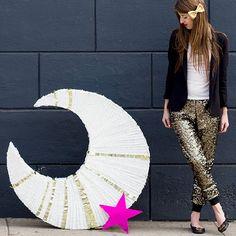 DIY Giant Moon Piñata