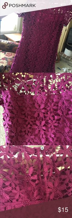 NWOT Lace purple bodycon I bought this beautiful lace dress for a wedding, but it just didn't fit me right. It's all lace with a under dress, cute small key hole back, high neck and short sleeves, it is also form fitting. It has no flaws and has never been worn only to try on. Tag does not come with it due to me accidentally pulling it off while trying it on. Bought for $25 will take $15 or BO Hollister Dresses Mini
