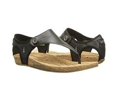 Ahnu Womens Serena Thong Sandal Black 65 M US ** Awesome product. Click the image
