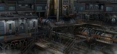 Secret Base, Eduard Pronin on ArtStation at https://www.artstation.com/artwork/Lr16R