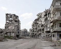 A view of the destruction in Homs, Syria, March 2016.