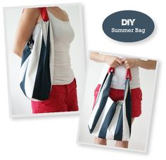 As promised, I am bringing you a sewing tutorial for a simple summer bag. I was inspired by this  Jil Sander bag and thought it should be pr...