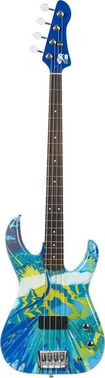 Colour Spin Bass Guitar - Damien Hirst and Flea from Red Hot Chili Peppers | 2010