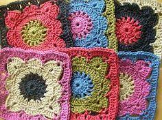 crochet granny square patterns - Google Search