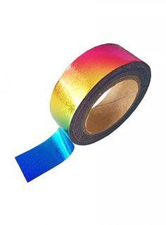 Masking tape foil regenboog