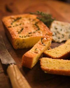 Polenta Bread with Thyme and Pine Nuts -  #sweetpaul