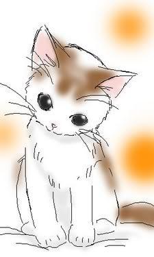 Anime style cute cat