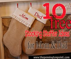 10 FREE Stocking Stuffer Ideas for Mom and Dad