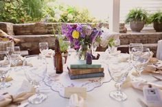 sigh...a literature-themed wedding complete with gingham shirts and polka-dot bow ties...