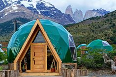 Situated in Chile's Torres del Paine National Park, at the southern tip of the Andes, EcoCamp shares the landscape with Patagonian forests, glaciers, lakes, rivers, and fjords. Nature-loving guests are put up in environmentally friendly geodesic domes, which are modeled after the early dwellings of the area.