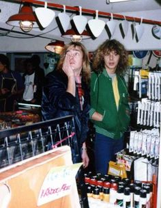 Clive Burr and I think that's Adrian Smith