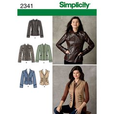 Sew your own jacket this winter with these patterns from Simplicity! This is the perfect DIY project to try during the chilly months.