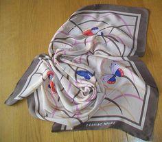 Japanese Silk Scarf featuring Butterflies 100% Silk Hanae