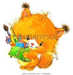 Find Back School Cute Squirrel School Books stock images in HD and millions of other royalty-free stock photos, illustrations and vectors in the Shutterstock collection. Thousands of new, high-quality pictures added every day. Cute Squirrel, Photoshop, Watercolor Animals, Watercolor Illustration, Cat Love, Otter, Nye, Back To School, Pikachu