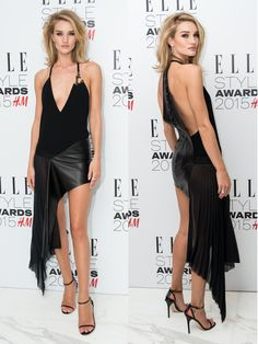 Rosie Huntington-Whiteley in Anthony Vaccarello - 2015 ELLE UK Style Awards - ELLE.com
