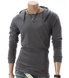 Amazon.com: Doublju Mens Casual Long Sleeve Hoodie Shirt: Clothing