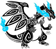 Tribal Mega Charizard X by Seoxys6 - More at: My Anime Pics #anime