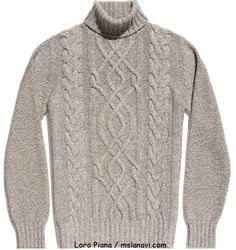 Мужской свитер с аранами от Loro Piana Aran Knitting Patterns, Knitting Designs, Baby Knitting, Sweaters For Women, Men Sweater, Fashion Project, Men Looks, Pulls, Knitwear