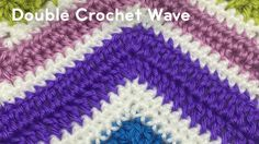 Double Crochet Waves This Double Crochet Wave pattern is part of The Stitch is Right Wave Game. It's been designed