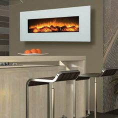 Ultra Modern Flair. Electric Fireplaces & Inserts - Wall Mount Series by Amantii - WM-50 in Alpine Shimmer
