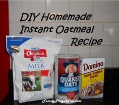 DIY Homemade Instant Oatmeal Recipe