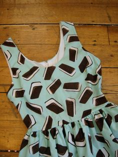 Mint Ice Cream Sandwich Party Dress MADE TO ORDER. $72.00, via Etsy.