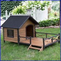 Dog house with porch deck
