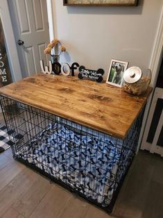 Dog Crate Table, Dog Crate Furniture, Wood Dog Crate, Dog Kennel Cover, Dog Crate Cover, Wire Crate, Ugly Dogs, Dog Rooms, My New Room