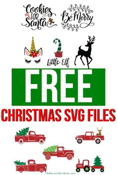 Get These Free SVG Files for Christmas Gifts and Crafts - Sweet potato recipes - Cricut Svg Files Free, Cricut Fonts, Cricut Vinyl, Merry Christmas, Christmas Crafts, Christmas Vinyl, Christmas Ideas, Cricut Tutorials, Cricut Ideas