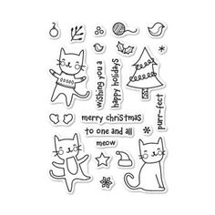 Purrfect Holidays Clear Stamp Set