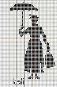 Mary Poppins Cross Stitch (In the most delightful way)